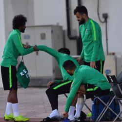 الشهراني يعود للتدريبات الجماعية والأخضر يواصل تحضيراته لمواجهة قطر