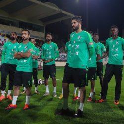 الأخضر يختتم تحضيراته للقاء الإمارات