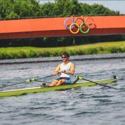 حسين على رضا في اولى مشاركة أولمبية للتجديف